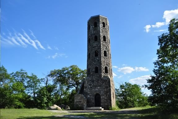 Hike to the Stone Tower at Lynn Woodsas part of trails and sails!