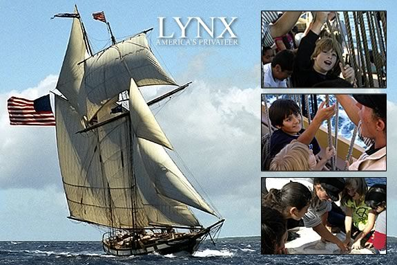 Come to Newburport for a chance to tour the privateer schooner Lynx