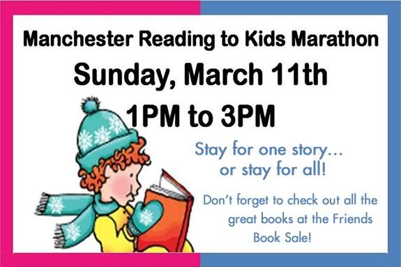 Reading to Kids Marathon at Manchester Public Library in Manchester by the Sea