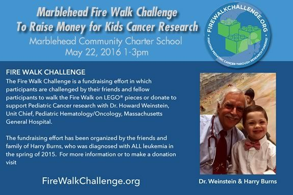 Come take the LEGO firewalk challenge to raise fund for Pediatric Cancer Research!