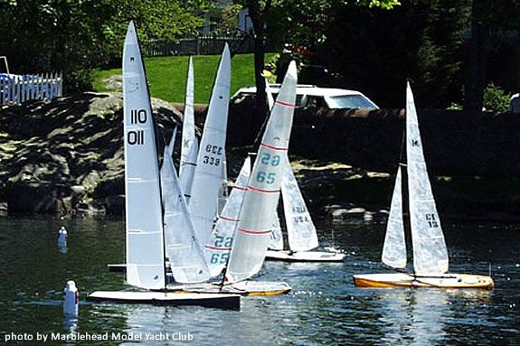 The Marblehead model Yacht Club will demonstrate Model yachting on Pleasant Pond