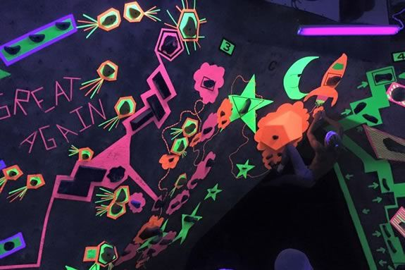 Blackout Boulder Brawl is climbing fun for all ages at MetroRock in Newburyport!