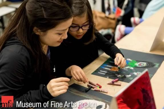 February Vacation activities at the Museum of Fine Arts in Boston Massachusetts