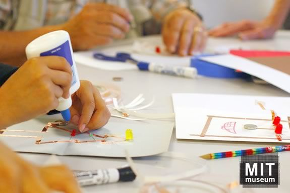Families can learn through hands-on science at MIT Museum's Idea Hub in Cambridge Massachusetts