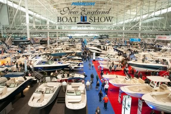 The New England Boat Show in Boston Massachusetts at the Boston Convention & Exhibition Center