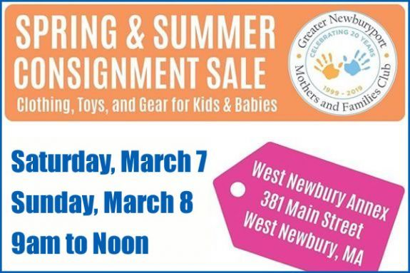 The Greater Newburyport Mothers and Families Club Spring and Summer Consignment Sale