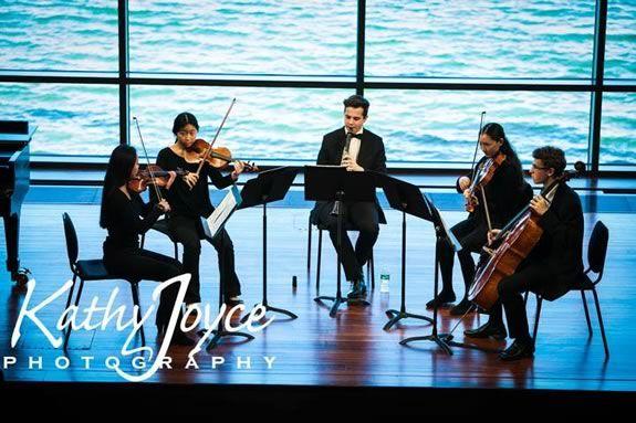 Northeast Massachusetts NMYO's Honors Chamber Ensemble performing at the Shalin Liu performing arts center in Rockport MA