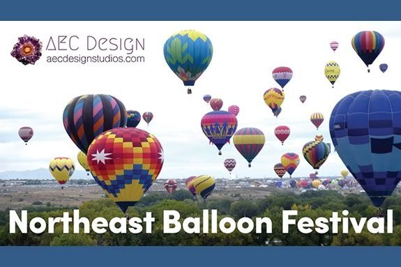 The Northeast Balloon Festival is a weekend full of Hot Air Balloons, Tethered Rides, Walk-in Balloons, Nighttime Balloon Glows, Pilot Meet & Greets, and Competitions