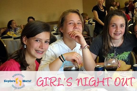 Girls night out is a chance for Middle School Aged girls to bond with friends.