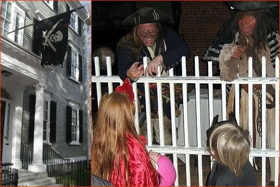 Join the Salem Pirates for a raucus Halloween at the Phillips House in Salem MA