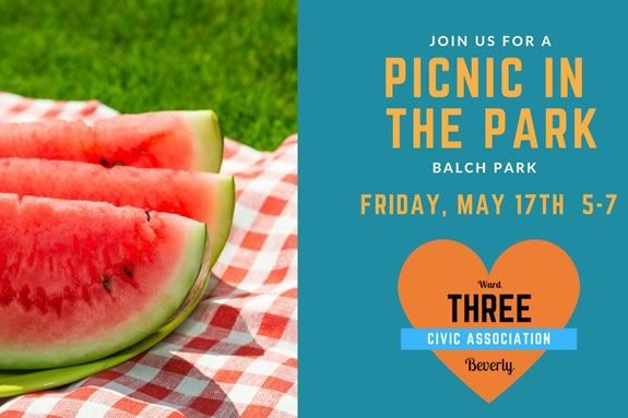 Beverly Ward Three Civic Association hosts a community picnic in the park!