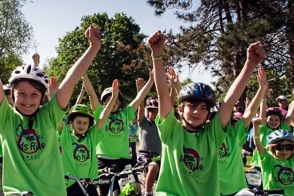 Kids are encouraged to ride their bikes to raise money for the Pan Mass Challenge in Gloucester