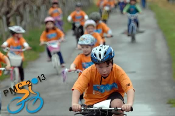 Kids are encouraged to ride their bikes to raise money for the Pan Mass Challeng