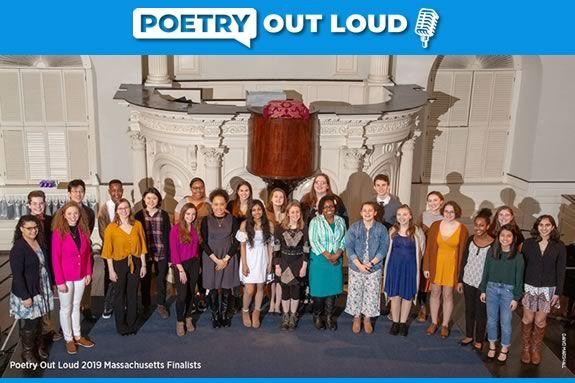 Poetry Outloud Champions 2019. Join the 2020 competition at Newburyport City Hall!