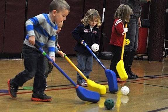 Lynch Van Otterloo field hockey for preschool opening day in Marblehead Massachusetts