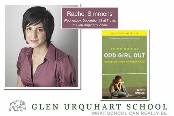 Rachel Simmons, Best-Selling Author and Educator to Speak at Glen Urquhart Schoo