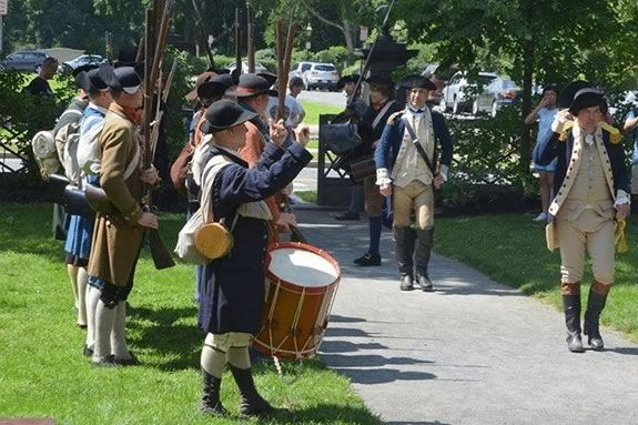 Come by the Newburyport Custom House to see Captain John Wood's Company, Colonel Gerrish's 25th Regiment of the Massachusetts Grand Army on our back green!