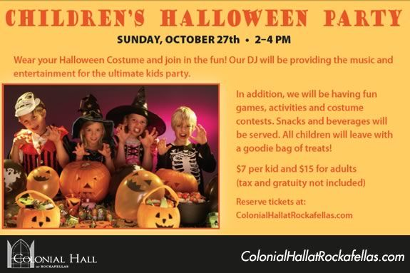 Come to Rockafellas in Salem for a kids' Halloween Costume Party!