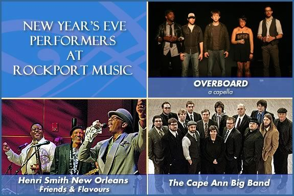 Rockport Music has a great lineup for music on New Year's Eve 2012!