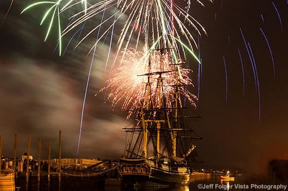 Salem Massachsuetts Celebrates the Fourth of July Independence Day Fireworks