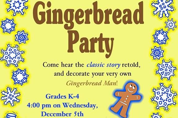 Kids celebrate the season at  Salem Library's Gingerbread Party!