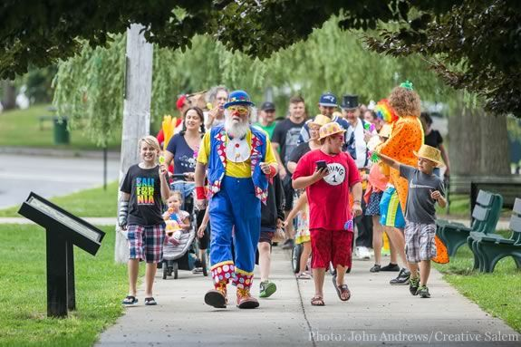 Clown Day at Salem Willows Park in Salem Massachusetts.