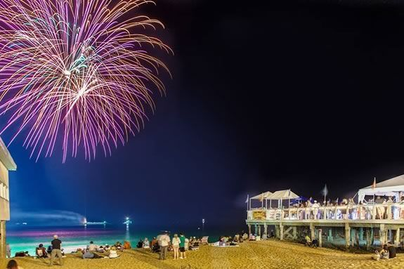 Fourth of July Fireworks at Salisbury Beach include a campfire and marshmallow roast on the beach.