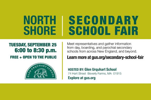North Shore Secondary School Fair & Educational Expo at Glen Urquhart School in Beverly MA
