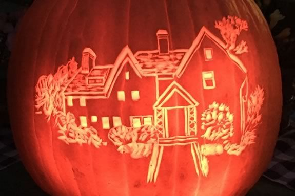 Pumpkin Walk at The House of the Seven Gables in Salem Massachusetts