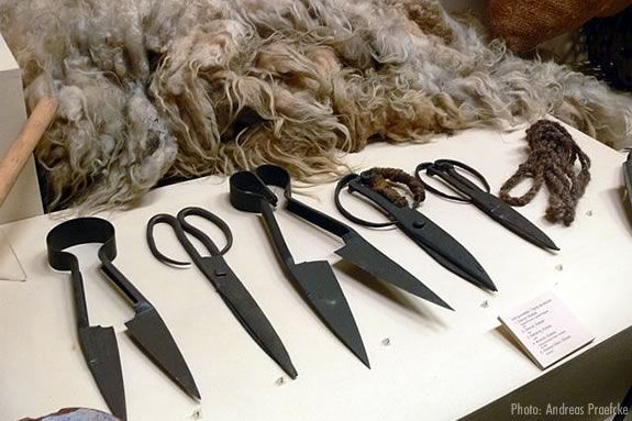 Traditional Sheep Shearing Tools.  Come to the 45th Annual Sheep Shearing Festival on the North Andover Common.