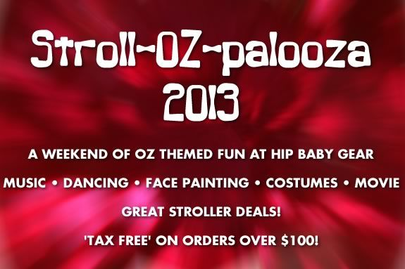 Come to Hip Baby Geear in Marblehead foir a weekend full of Oz themed fun!