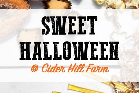 Sweet Halloween fun for families at Cider Hill farm in Amesbury Massachusetts
