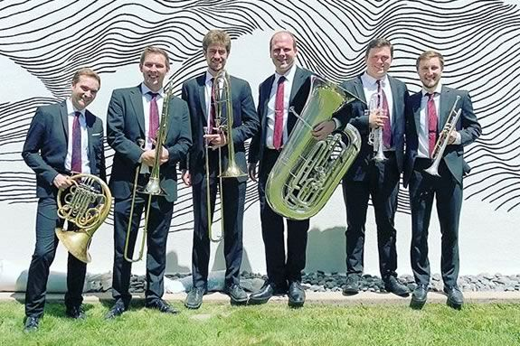 The Brass Project performs a free concert at Rockport Music's Shalin Liu Center for Performing Arts