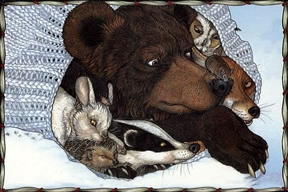 """Read """"The Mitten"""" by Jan Brett and then take a hike to look for animal homes"""