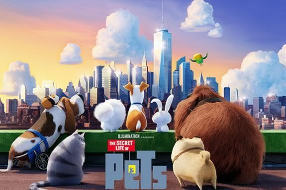 Come to Newbury Town Library for a free showing of Illumination's 'The Secret Life of Pets'!