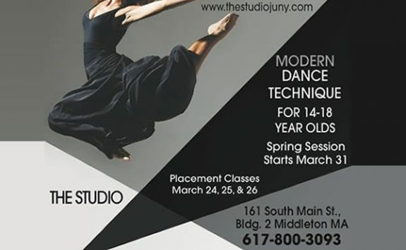 Modern Dance Class for Teens with Jill Haney in Middleton MA