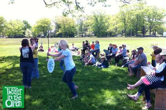 Theater in the Open presents story telling, dance, and fairy tale theater in a p