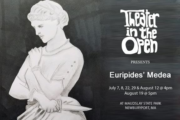 Theater in the Open presents a Euripides' Medea at Maudslay State Park in Newburyport Massachusetts
