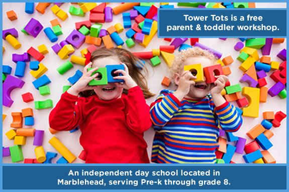 Toddler playgroup and workshop at Tower School in Marblehead MA