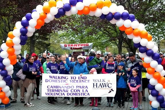 The annual walk for HAWC in Salem Massachusetts is a major fundraiser for the organization!