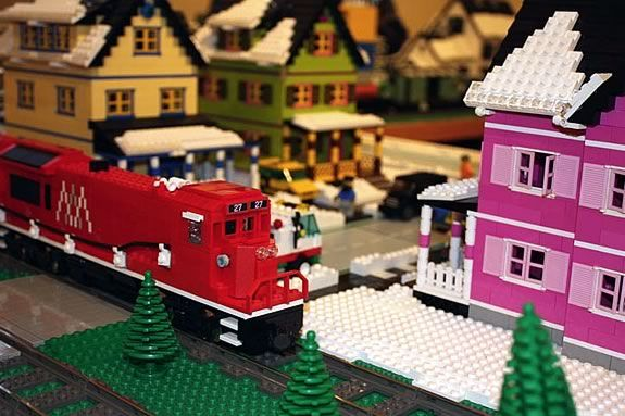 The Lego Train Returns to Wenham Museum 2017 designed with the highest degree of precision by the New England Lego Users Group