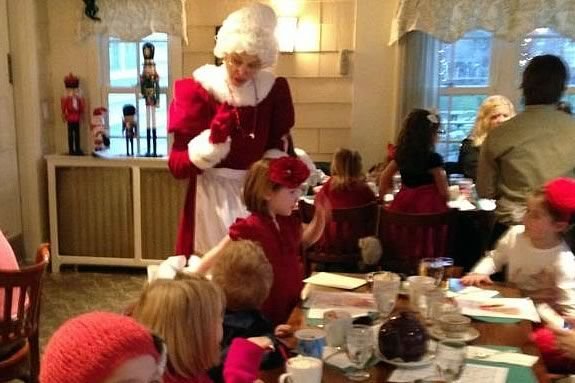 Kids will have a holiday tea with Mrs. Claus at the Wenham Tea House!