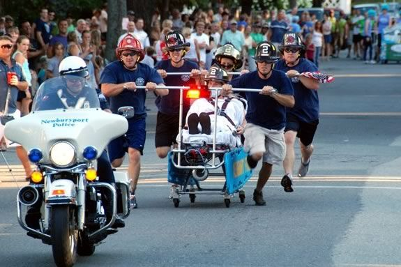 Yankee Homecoming Annual Bed Race hosted by the Lions Club of Newburyport