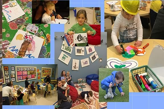 Young at art is a program for toddlers at the Cape ann museum in Gloucester Massachusetts