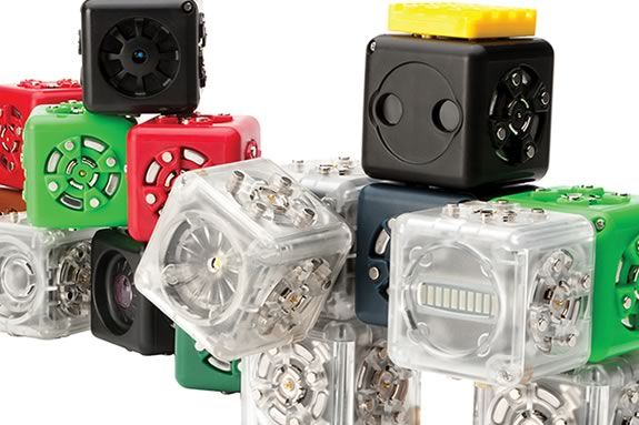 Kids will learn to build robots using Cubelets and LEGO at Ipswich Town Hall