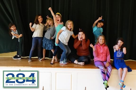 Spome of the kids that performed in Stage 284's Theater Workshop For Kids production of Madeline!