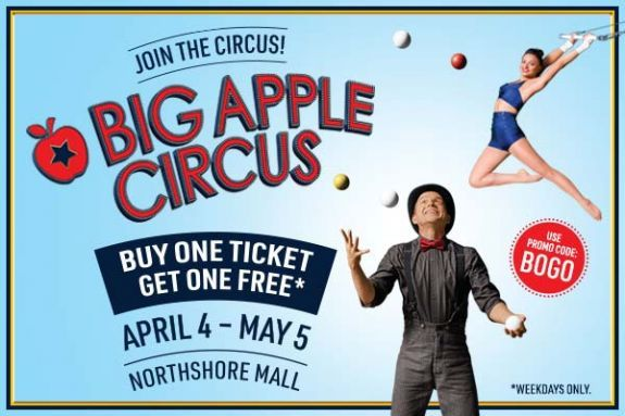Big Apple Circus at North Shore Mall in Peabody MA