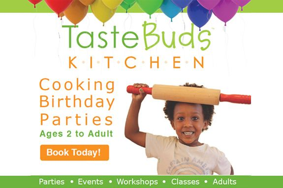 Taste Buds Kitchen in Beverly MA. Cooking classes and birthday parties for kids and adults.