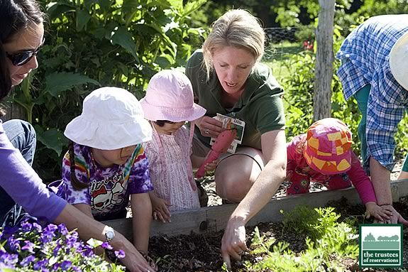 Volunteers make programs like the children's garden possible at Long Hill Beverl