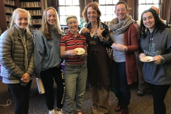 Teens and adults enjoyed an interesting and delicious presentation by Kim Larkin, of Klassic Kreations, about the history of chocolate and coffee.